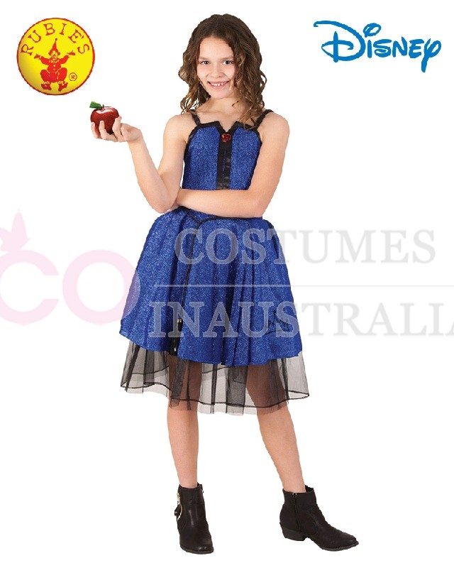 Child Deluxe Evie Descendants Isle Disney Costume Girls Fancy Dress