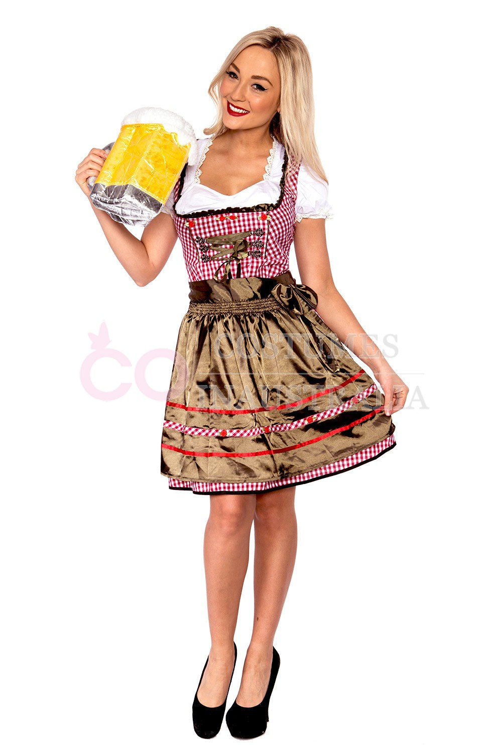Ladies Beer Maid Costume Wench German Heidi Oktoberfest Gretchen Fancy Dress | eBay  sc 1 st  eBay & Ladies Beer Maid Costume Wench German Heidi Oktoberfest Gretchen ...