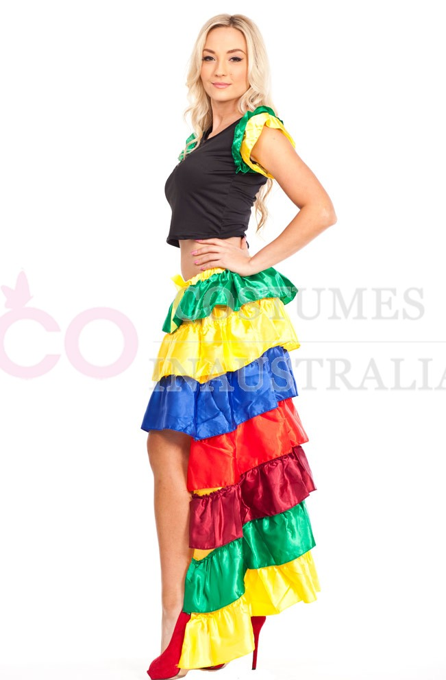 Spanish Senorita Flamenco Latin Rumba Dancing Costume