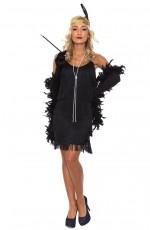 1920 flapper costumes Australia - Ladies 20s 1920s Charleston Flapper Black Chicago Fancy Dress Costume Cigarette Holder