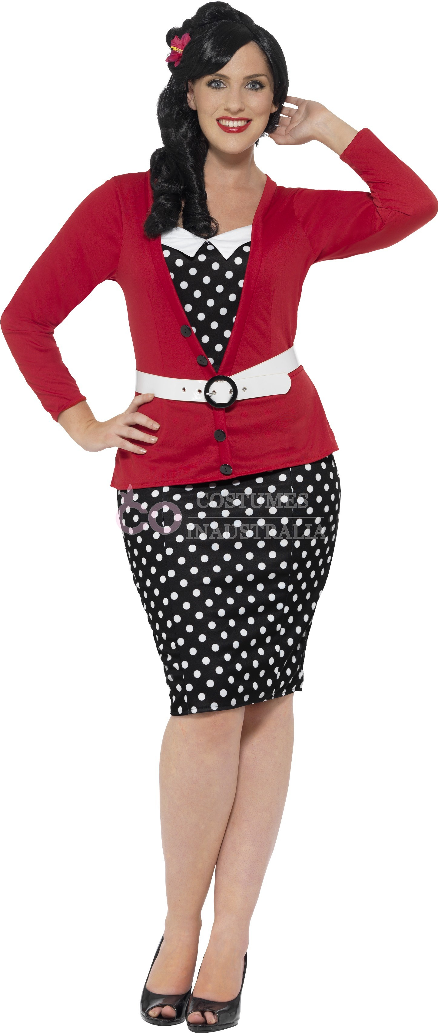 Curves 50 S Pin Up Costume Dress Up Rock And Roll Polka