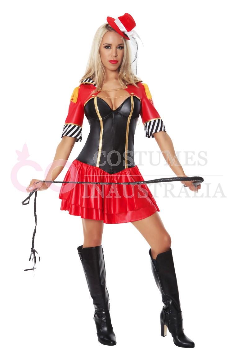 Ladies circus ringmaster fancy dress costume women s costumes