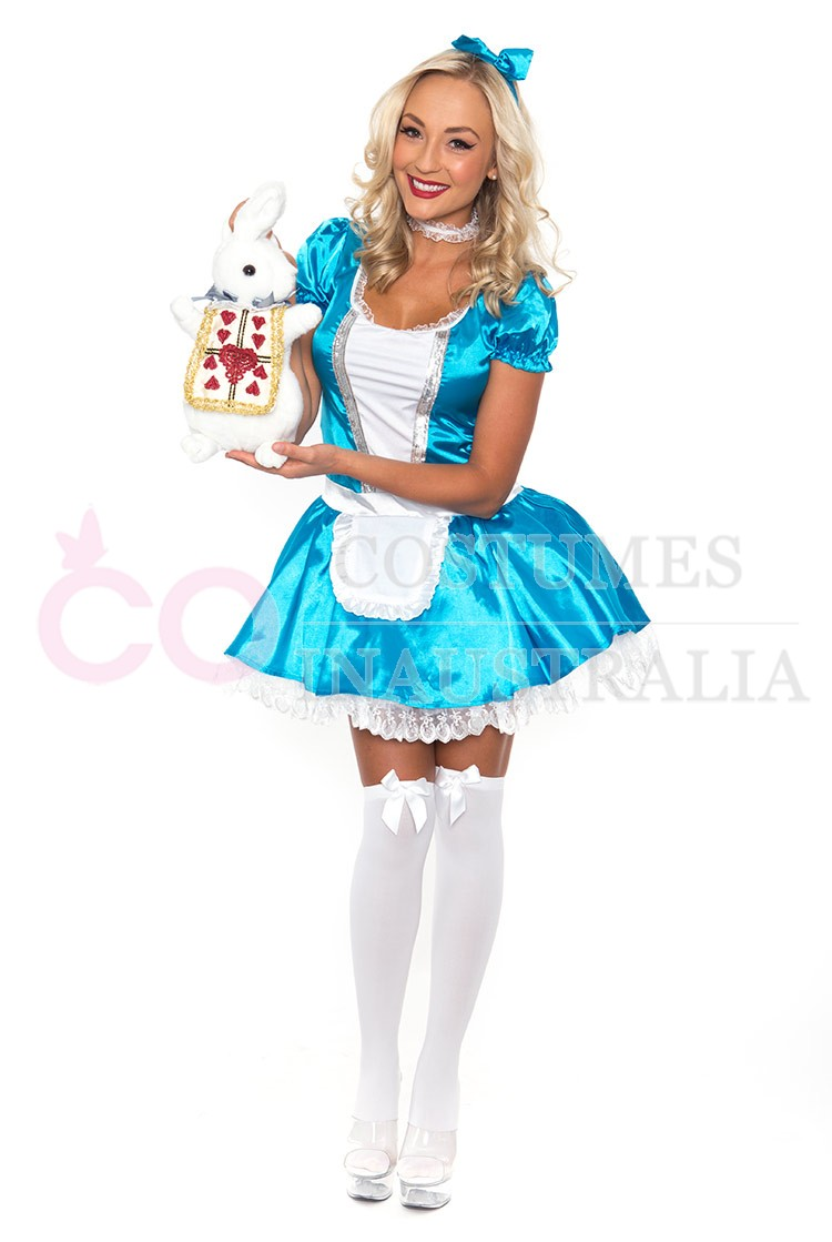 Ladies Alice In Wonderland Fancy Dress Halloween Full ...