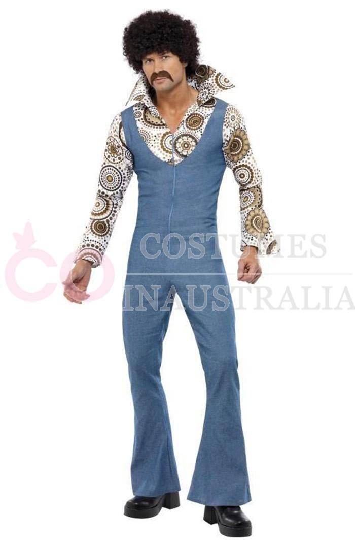 1970s 70s Licensed Groovy Dancer Mens Fancy Dress 70s