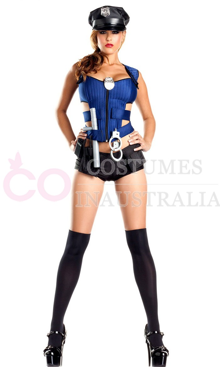 police costumes lb3008 - Girls Cop Halloween Costume