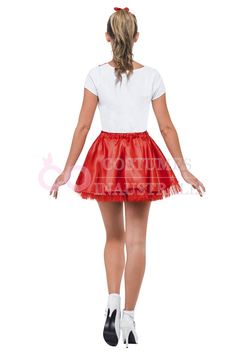 50s Grease Sandy Costume Red Rydell High Licensed