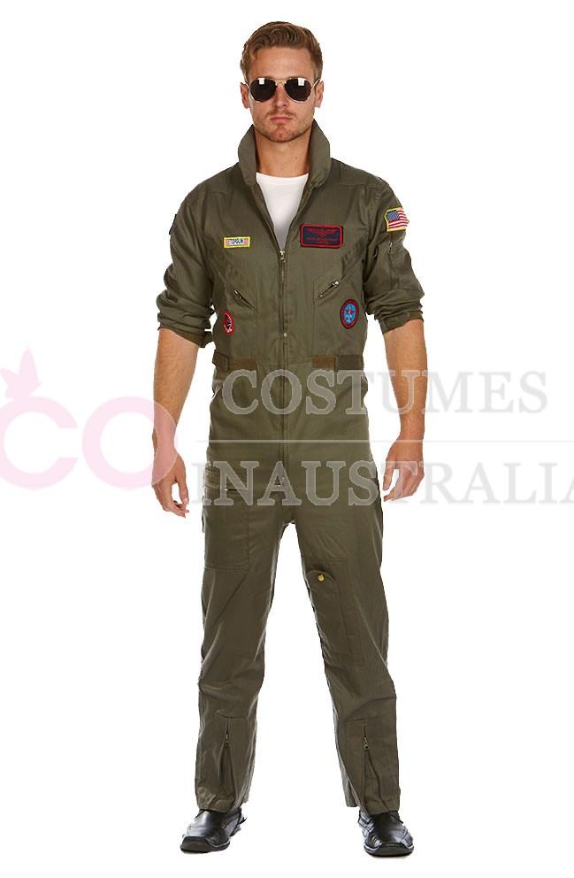 Mens Top Gun Costume, Top Gun Mens Flight Suit, Mens ...  Top Gun Mens Outfit