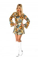 60s 70s Retro Hippie Girl Costume