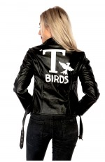 Grease Sandy T Birds Black Womens Jacket Lady 50's Costume Frenchie Rizzo