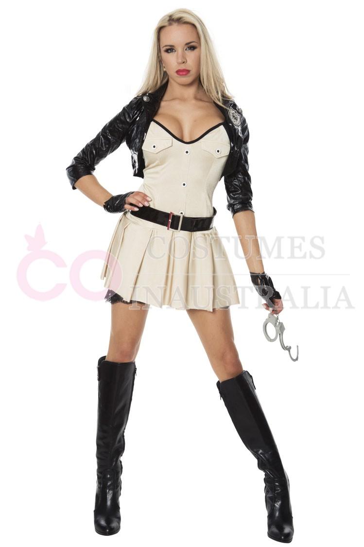 Costume cops uniform policeman hens fancy dress women s costumes