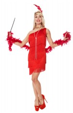 1920 flapper costumes Australia - Ladies 1920s Flapper Fancy Dress Costume red