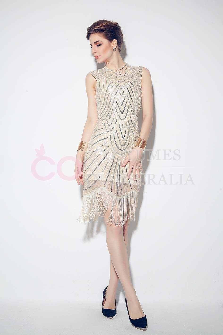1920s Great Gatsby Charleston Party Costume Sequin Tassel ...