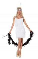 1920 flapper costumes Australia - Ladies 20s 1920s Charleston Flapper White Chicago Fancy Dress Costume Cigarette Holder