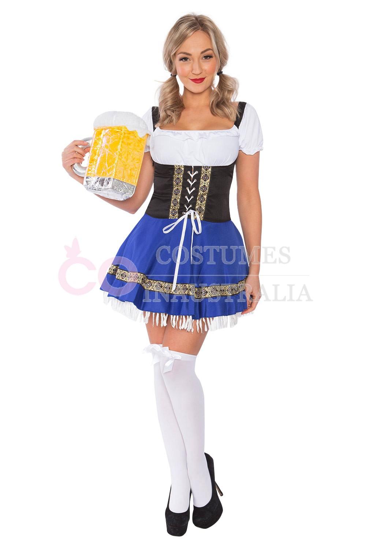 Ladies Beer Maid Costume Wench German Heidi Oktoberfest ...