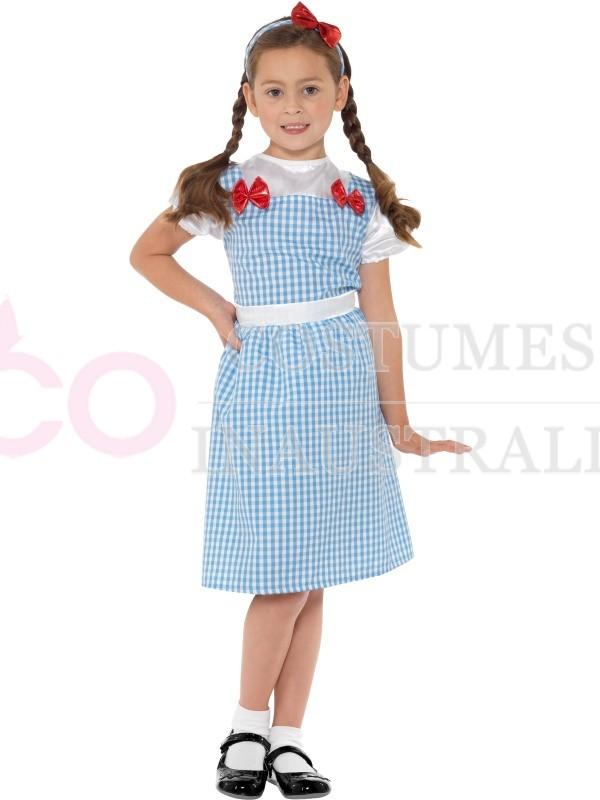 Girls Country Western Girl Dorothy The Wizard Of Oz Costume Book Week Kids Dress