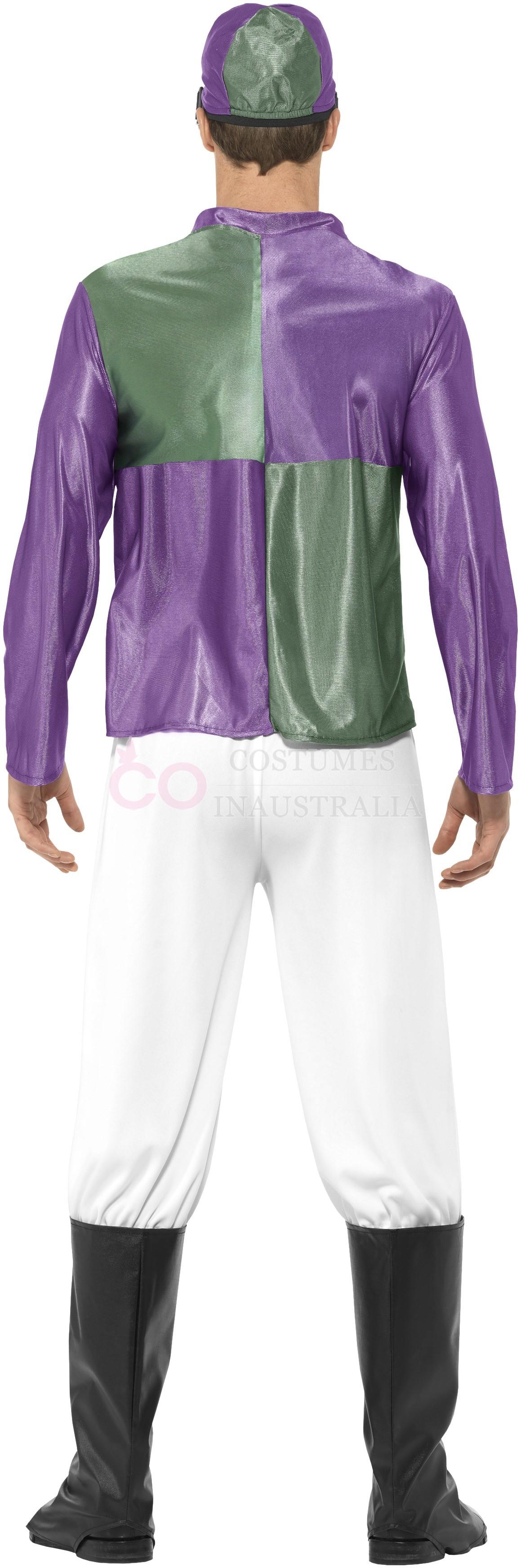 Product. Description. Jockey Costume  sc 1 st  eBay & Mens Purple Jockey Horse Costume Racing Rider Mens Uniform Hat ...