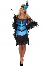 1920 flapper costumes Australia - Ladies 20s 1920s Charleston Flapper Chicago Fancy Dress Costume Black Boa