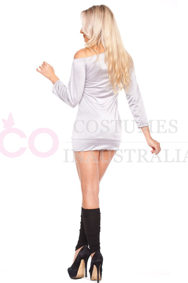 Flashdance Sweatshirt Dress Adult Costume