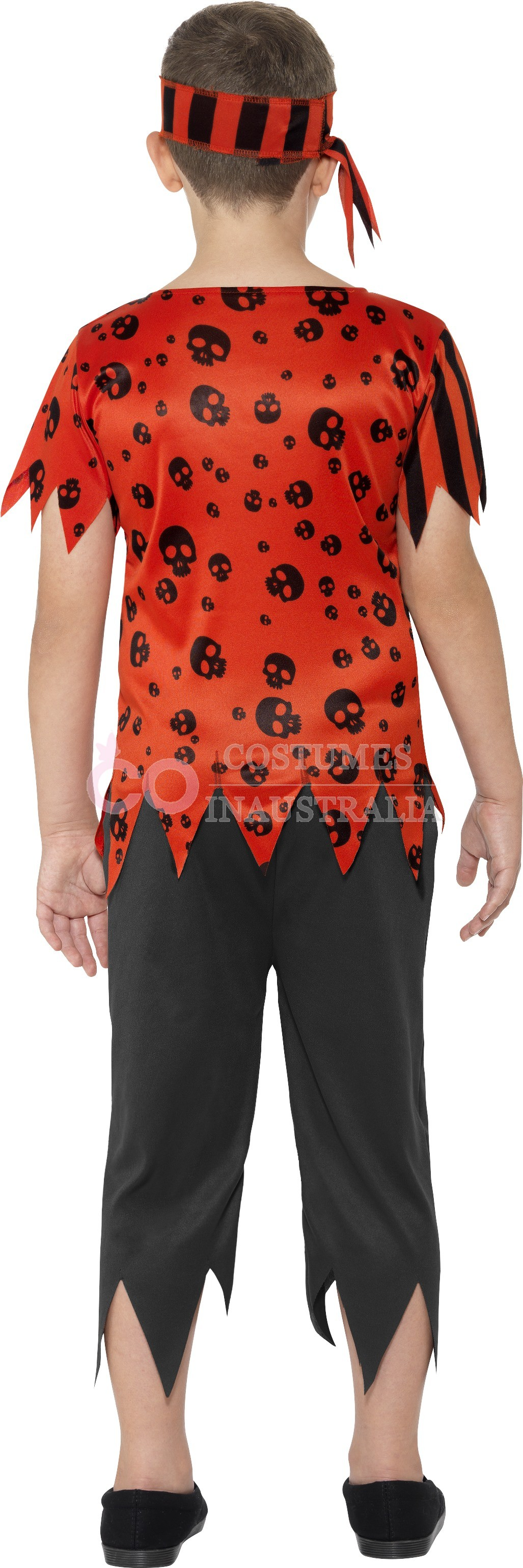 Boys Jolly Pirate Costume Child Caribbean Buccaneer Fancy Dress Book Week Outfit