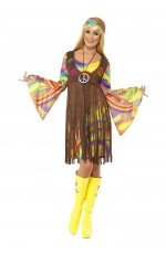 1960s Groovy Lady Hippie 70s Disco Retro Groovy Go Go Dance Party Costume