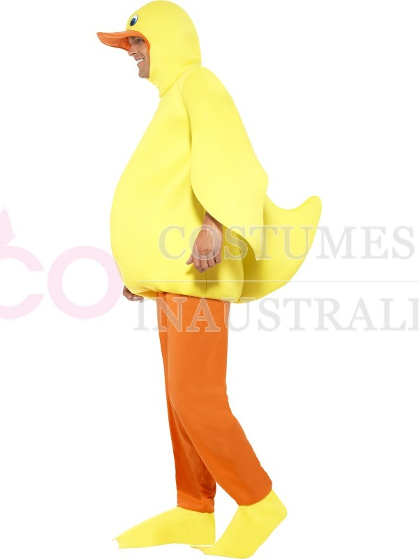 Adult Duck Yellow Animal Costume Bodysuit Fancy Dress Up Party Jumpsuit Mascot