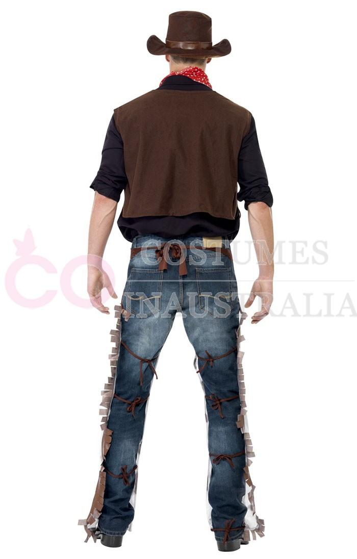 Cowboy Wild West Costume Mens Sheriff Gunslinger Texas