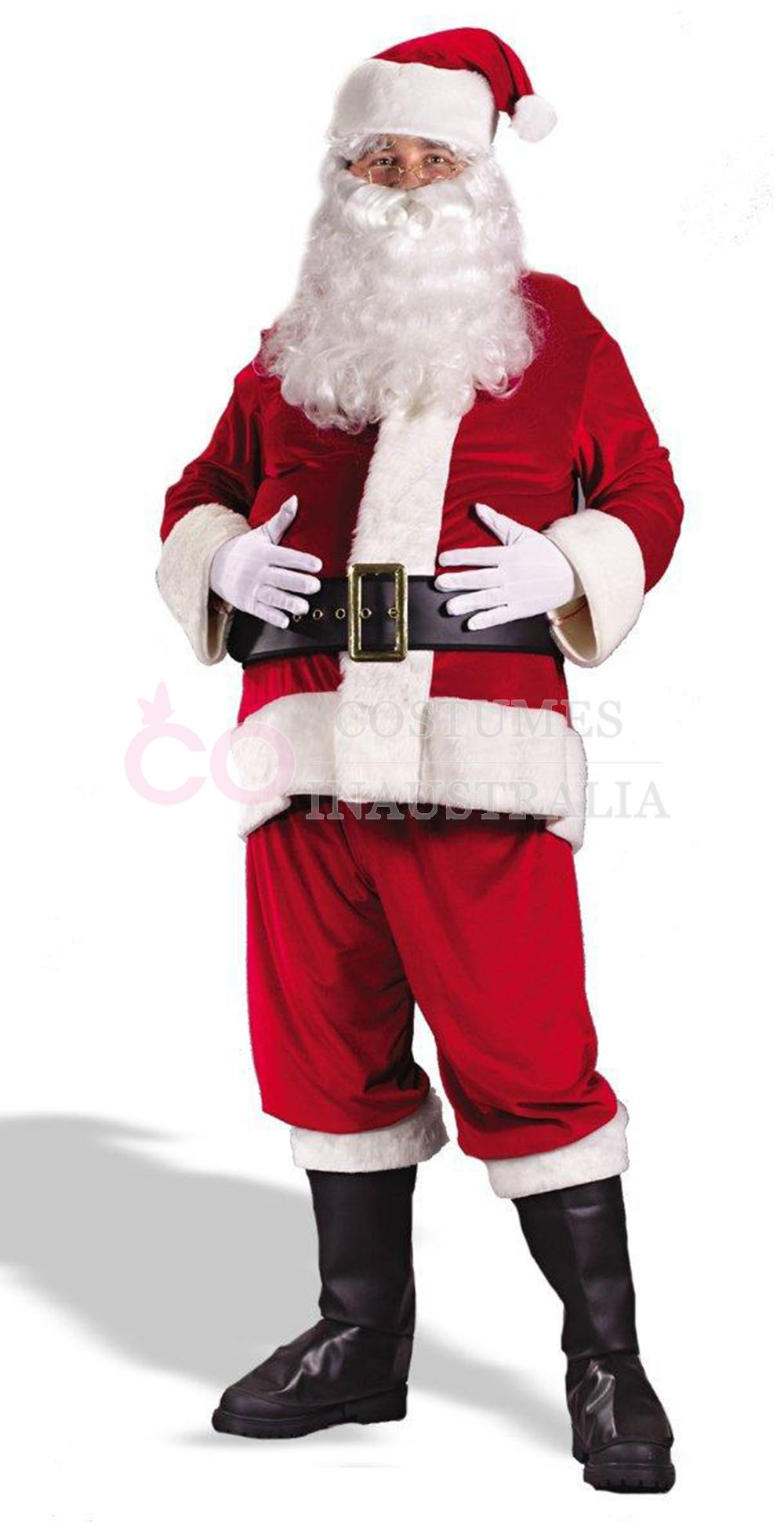 Flannel Santa Claus Suit Clause Christmas Xmas Fancy Dress ...