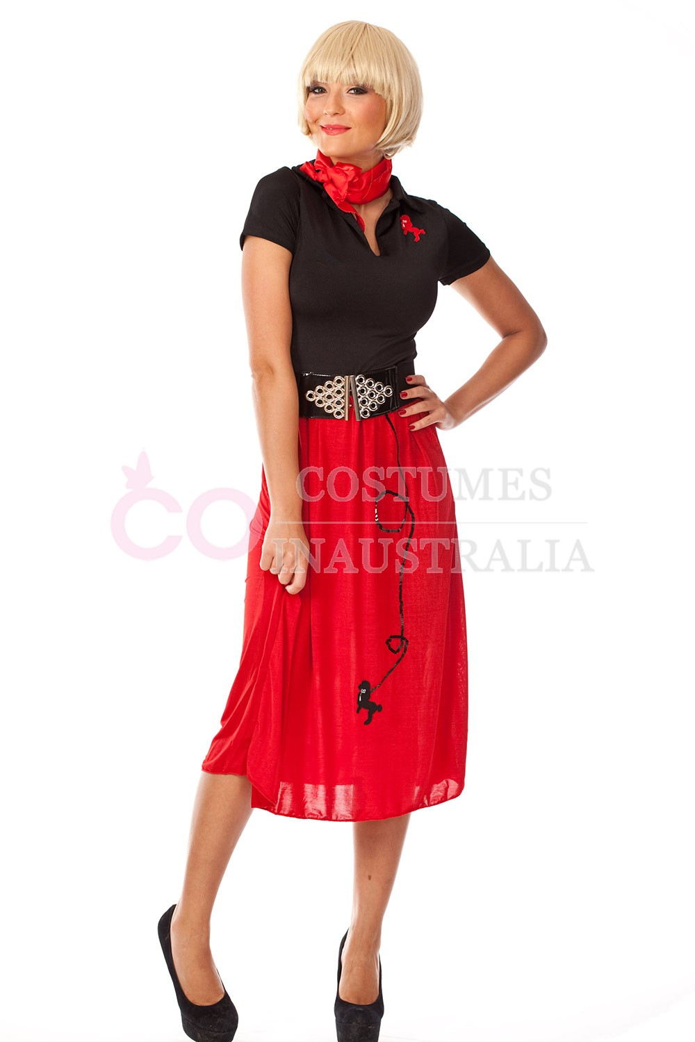 50s Costumes Lz8647 3 1950s Poodle Skirt Costume