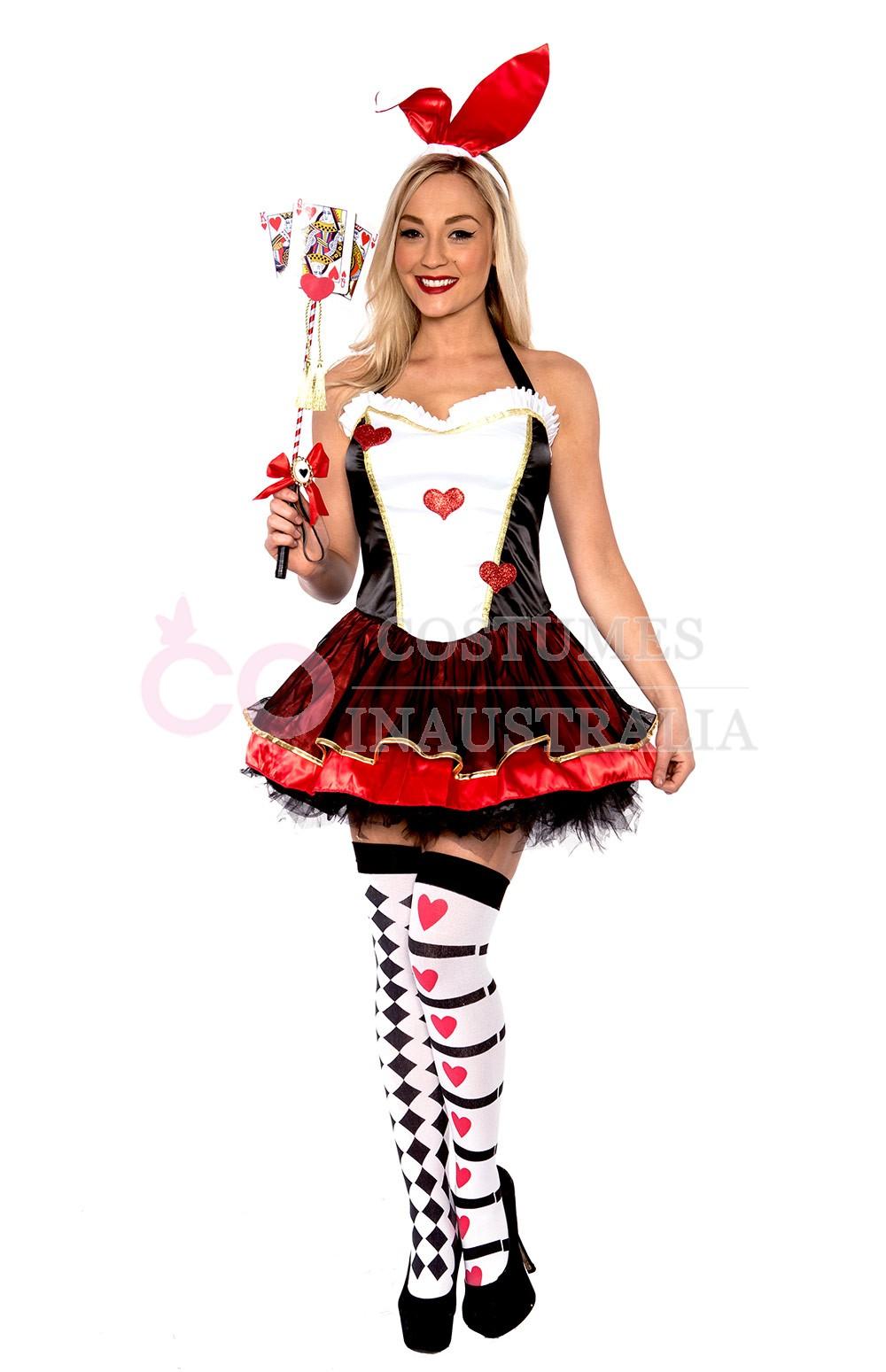 Alice in bunny costume and stockings masturbating 1