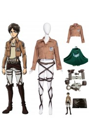 Ladies Attack on Titan The Recon Corp Mikasa Ackerman With Cloak Cosplay Costume