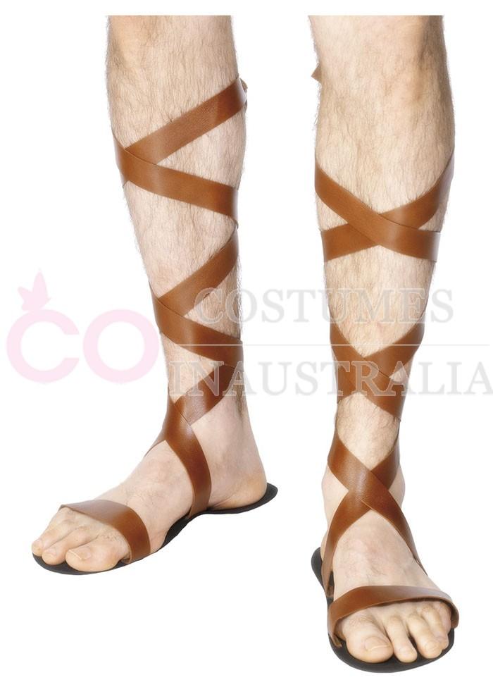 Mens Spartan Greek Warrior Roman Sandals Jesus Gadiator
