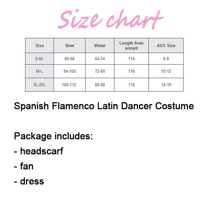 Ladies Spanish Flamenco Fancy Dress