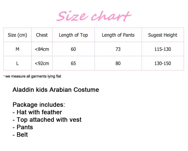 Boys Arabian Genie Aladdin Arab Prince Costume Childrens Kids Book Week Fancy Dress Costume